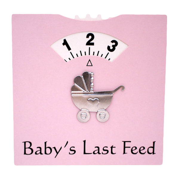Pink baby feed wheel for helping to remember baby's last feed.