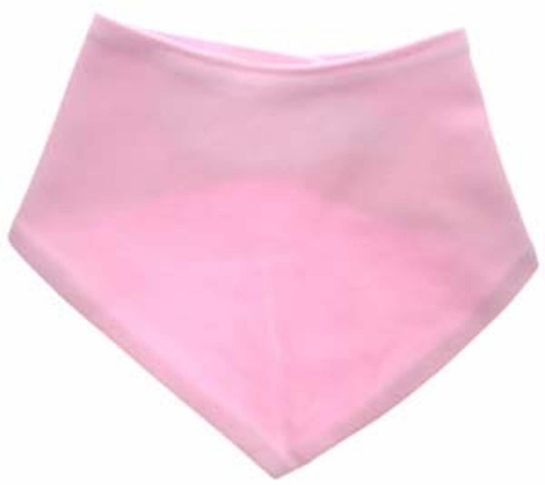 Pink bandana bib for baby girls