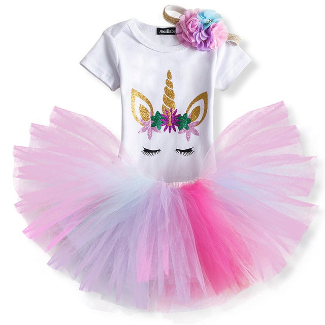 baby's 1st outfit girl, unicorn first birthday dress
