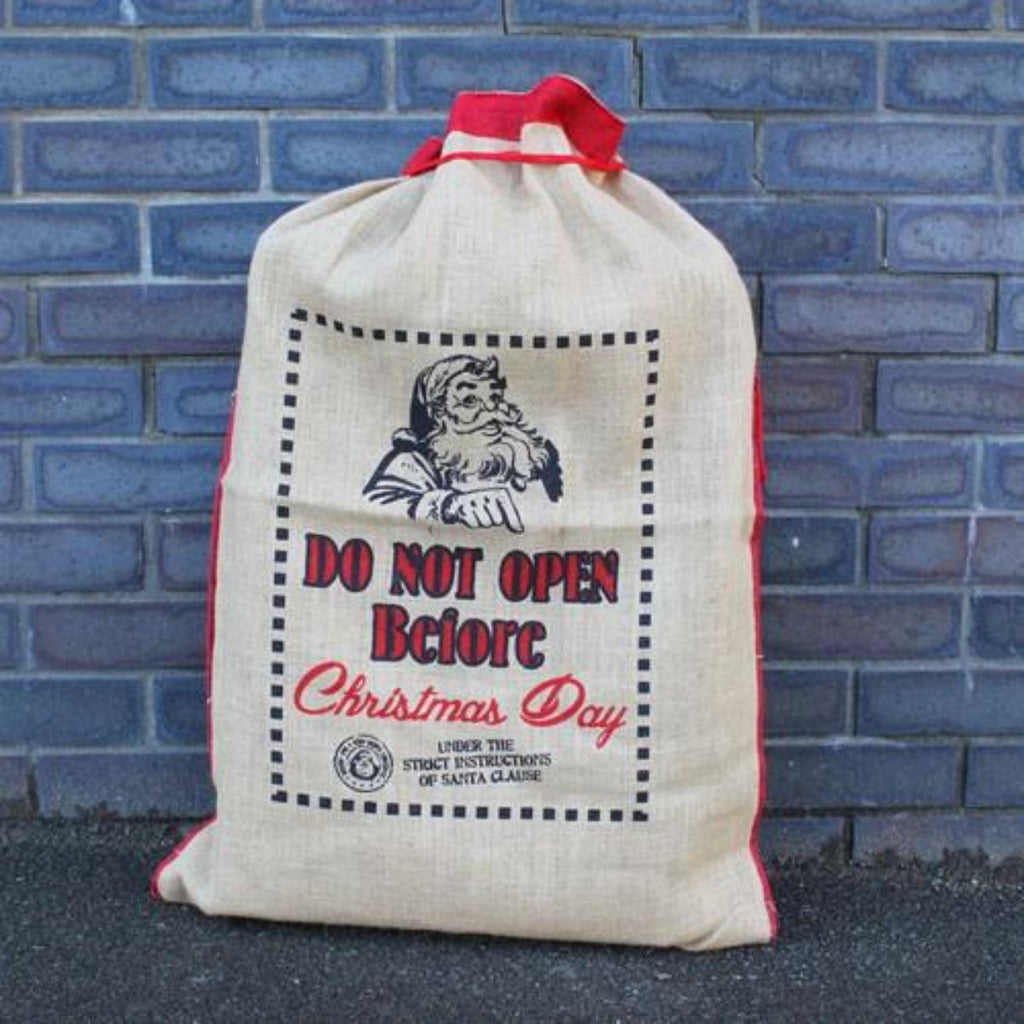 Santa Sack - Do Not Open Before Christmas Day | Eco Friendly Jute