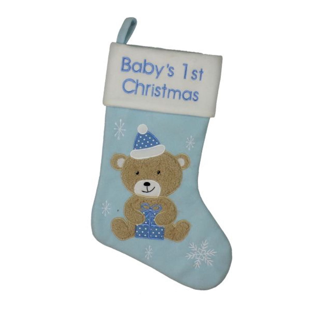 Baby Christmas Stocking | Baby 1st Christmas | Winter Wonderland