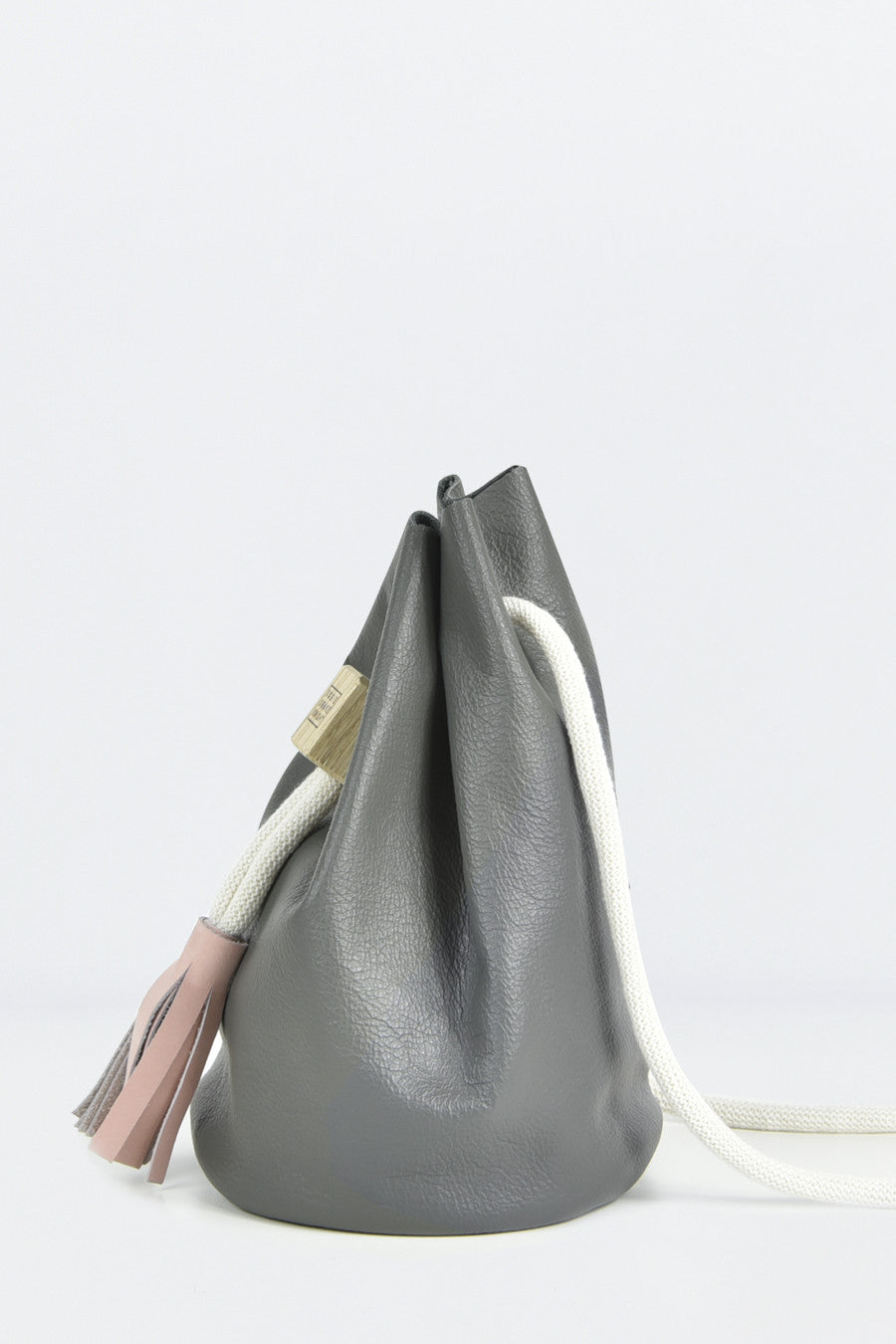 Slate Grey Small Bucket Bag