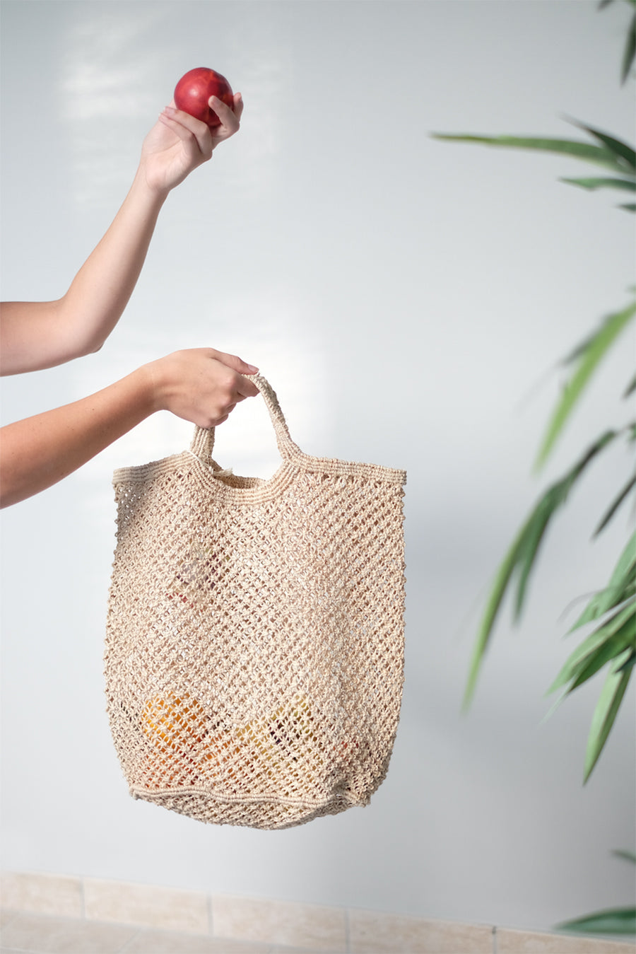Natural Jute Macrame Shopping Bag