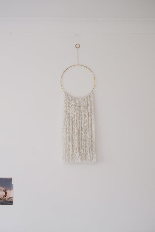 Brass Hoop Wall Hanging