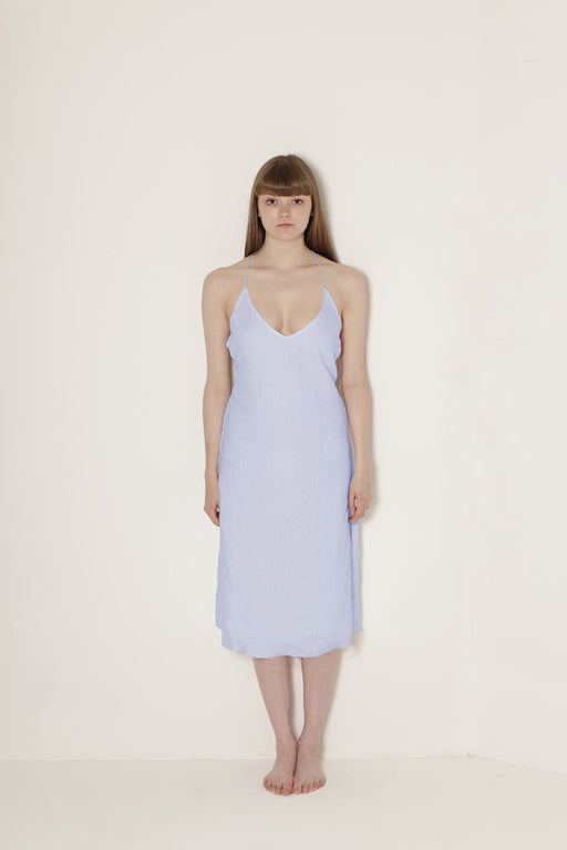 Delphine Slip Dress Blue
