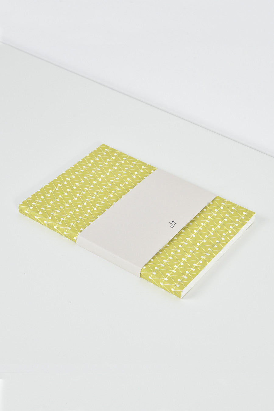 Layflat Leaf Green Dash Print Notebook | A5