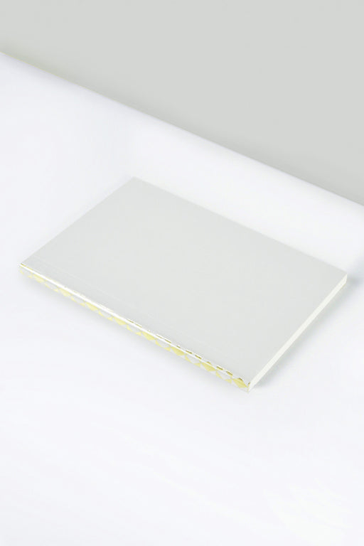 Light Grey Notebook with Diamond Foiled Spine | A5