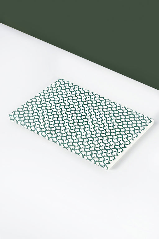 Layflat Forest Green Curve Print Notebook | A5