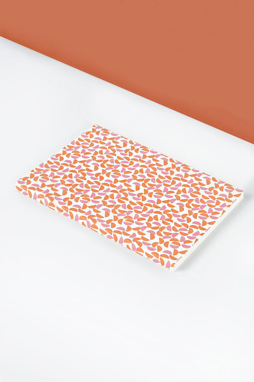 Layflat Pink and Orange Maze Print Notebook | A5
