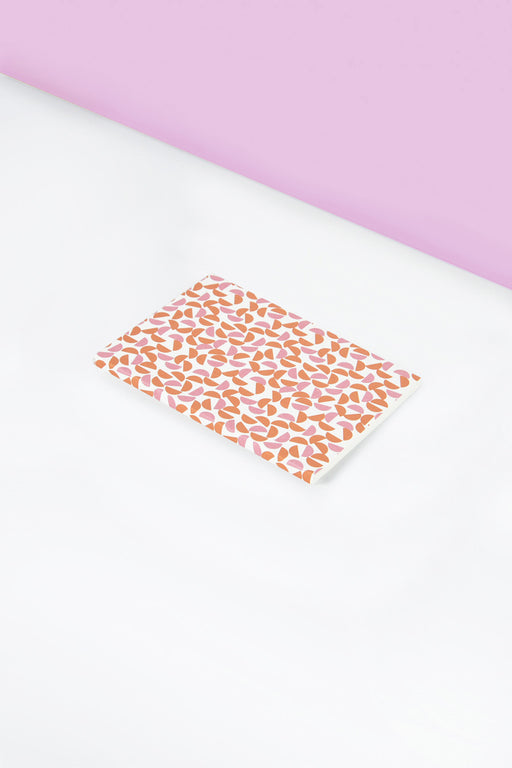 Layflat Pink and Orange Maze Print Notebook | A6