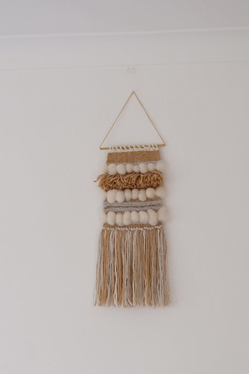 Wooly Tan Wall Hanging