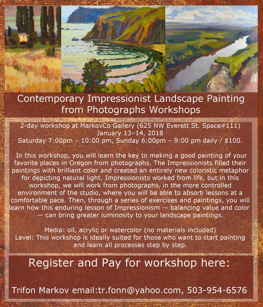 Contemporary Impressionist Landscape Painting January 13-14