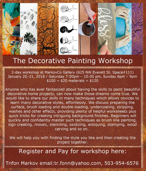 Decorative Painting Workshop January 20-21