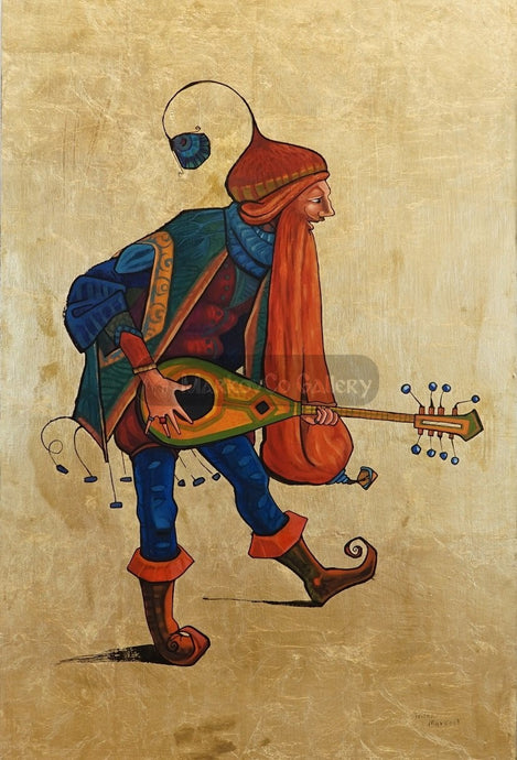 Red Beard Musician By Trifon Markov Original