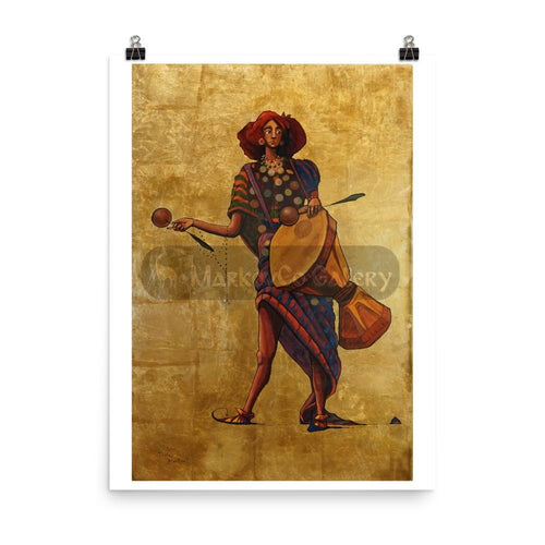 Percussion Drummer By Trifon Markov 18×24 Poster