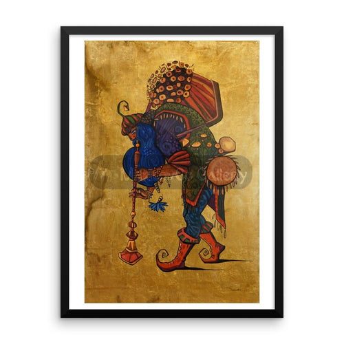 Blue Beard Musician By Trifon Markov 18×24 Framed Poster