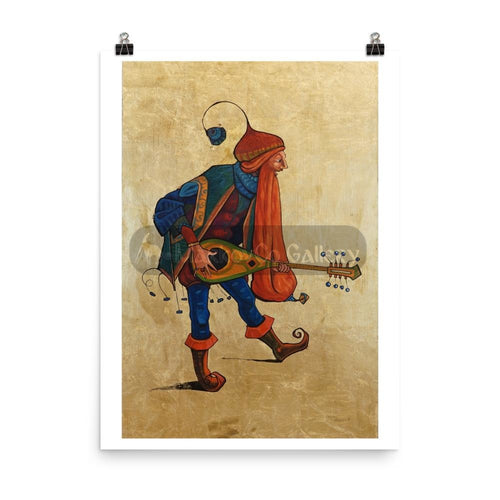 Red Beard Musician By Trifon Markov 18×24 Poster