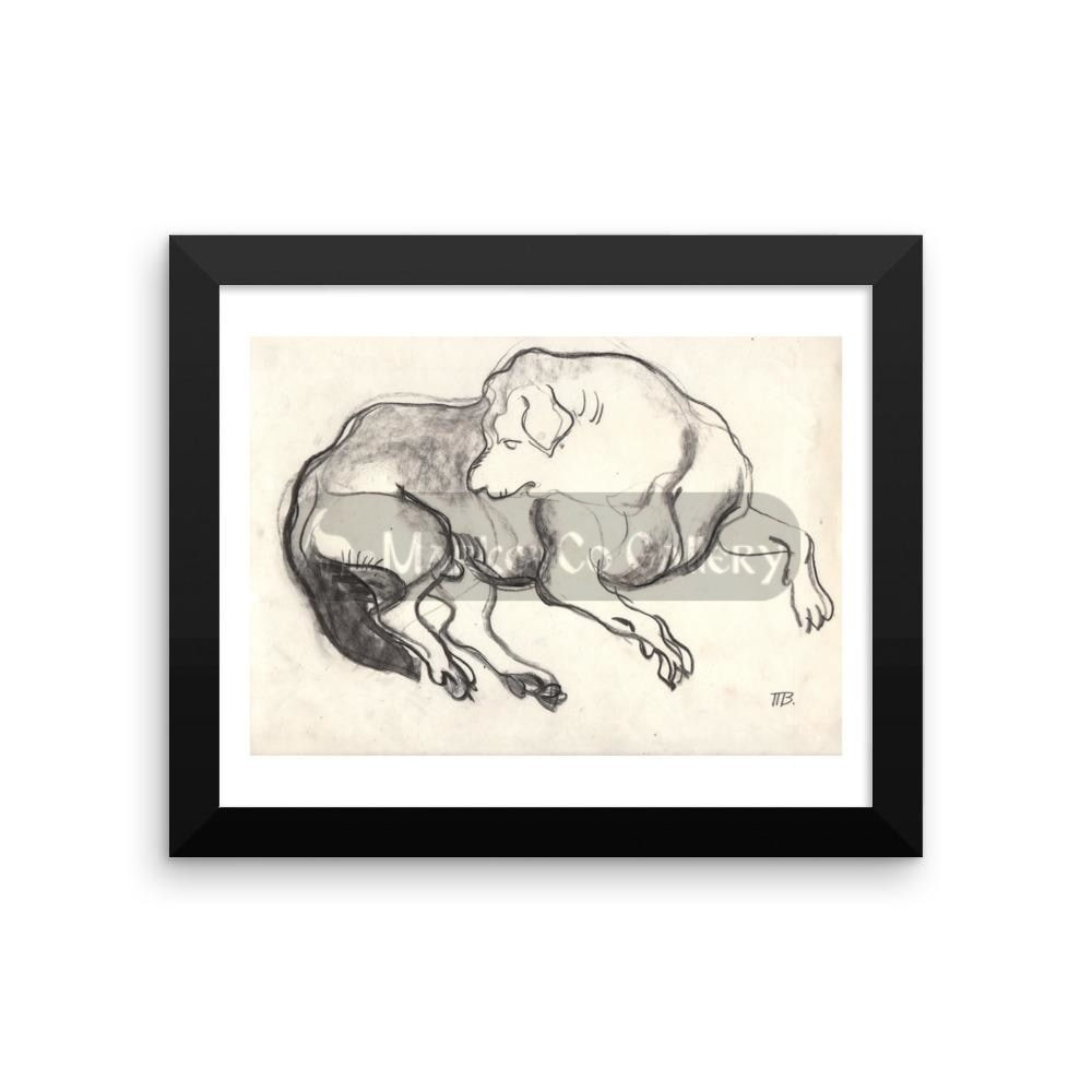 Dog Sketch By Tatyana Trunova 16×20 Framed Poster