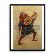 Guitar Musician By Trifon Markov 18×24 Framed Poster