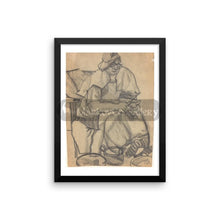 Peeling Off Potatoes By Tatyana Trunova 16×20 Framed Poster