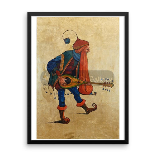 Red Beard Musician By Trifon Markov 18×24 Framed Poster