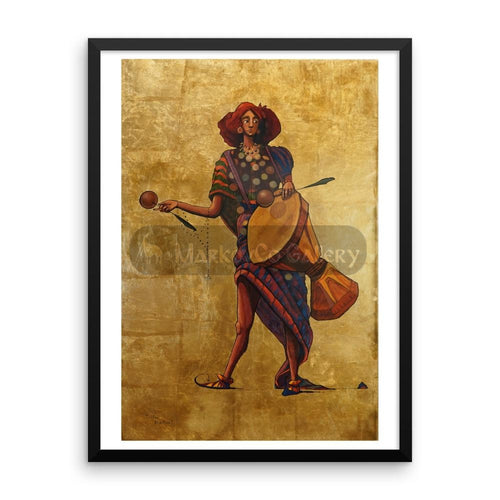 Percussion Drummer By Trifon Markov 18×24 Framed Poster