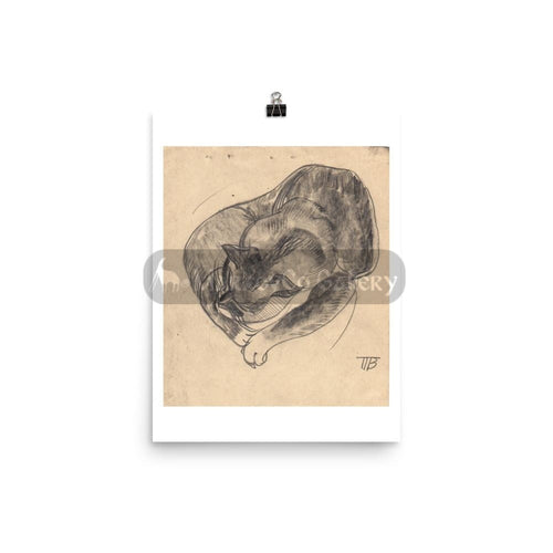 Sleeping Cat By Tatyana Trunova 12×16 Poster