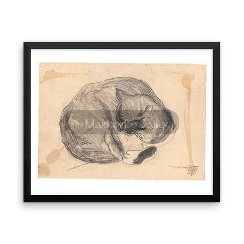 Cat Sketch By Tatyana Trunova 16×20 Framed Poster