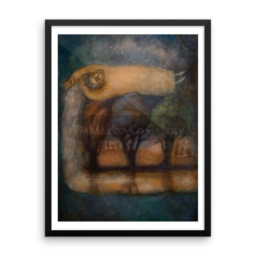 Riverdream By Elena Markova 18×24 Framed Poster