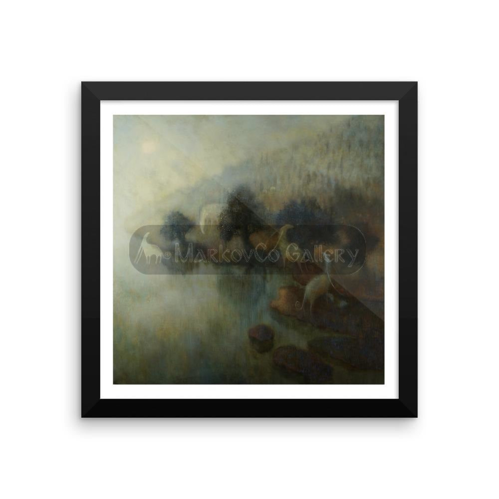 Pathway In Between By Elena Markova 12×12 Framed Poster