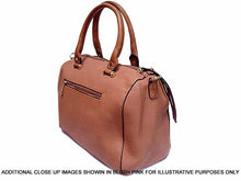 A-SHU DESIGNER STYLE TAUPE BOWLER STYLE HANDBAG WITH TASSEL DESIGN - A-SHU.CO.UK