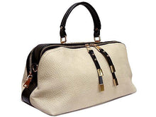 A-SHU ORDER BY REQUEST - BEIGE LEATHER EFFECT MULTI-COMPARTMENT HANDBAG WITH LONG SHOULDER STRAP - A-SHU.CO.UK