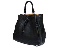 ORDER BY REQUEST - BLACK DOUBLE SIDED HOLDALL HANDBAG WITH LONG SHOULDER STRAP