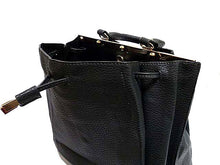 A-SHU ORDER BY REQUEST - BLACK DOUBLE SIDED HOLDALL HANDBAG WITH LONG SHOULDER STRAP - A-SHU.CO.UK