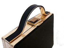 A-SHU BLACK HARDBACK METAL HOLDALL HANDBAG WITH LONG STRAP - A-SHU.CO.UK
