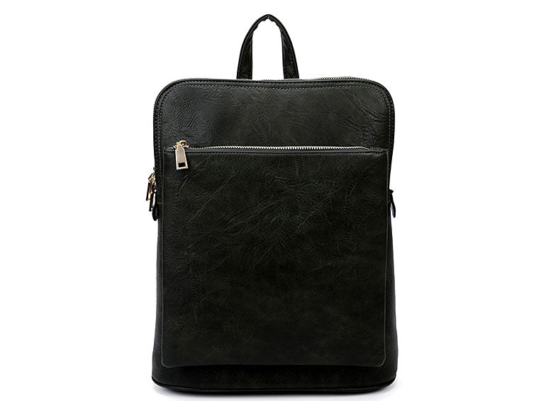 A-SHU BLACK MULTI COMPARTMENT CROSS BODY BACKPACK - A-SHU.CO.UK