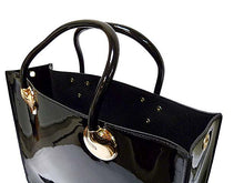 ORDER BY REQUEST - BLACK PATENT 3 PIECE SET - BAG IN BAG WITH LONG SHOULDER STRAP