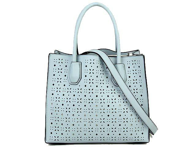 A-SHU BLUE MULTI-COMPARTMENT CUT OUT SYMMETRIC HANDBAG WITH LONG STRAP - A-SHU.CO.UK