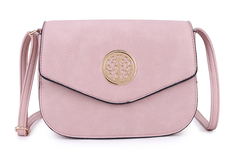 BLUSH PINK MULTI COMPARTMENT CROSS BODY SATCHEL BAG