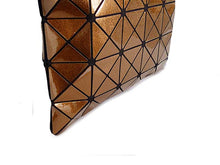 A-SHU BRONZE LUMINOUS LASER CUT HOLOGRAPHIC GEOMETRIC TOTE HANDBAG - A-SHU.CO.UK