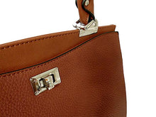 A-SHU BROWN LEATHER EFFECT DOUBLE SIDED HOLDALL HANDBAG WITH LONG SHOULDER STRAP - A-SHU.CO.UK