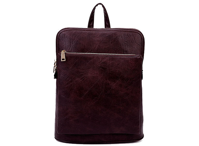 BURGUNDY PLUM MULTI COMPARTMENT CROSS BODY BACKPACK