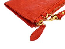 ORDER BY REQUEST - BURNT ORANGE GENUINE LEATHER SLIM PURSE WITH WRIST STRAP