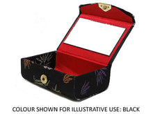 A-SHU GREEN CHINESE DESIGN SILK EFFECT COIN HOLDER / LIPSTICK CASE - A-SHU.CO.UK