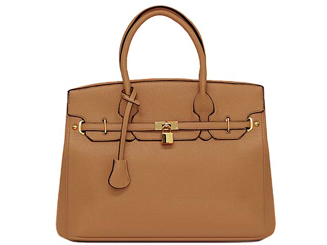 A-SHU DESIGNER STYLE BEIGE MULTI-COMPARTMENT HOLDALL HANDBAG WITH LOCK, KEY AND LONG STRAP - A-SHU.CO.UK