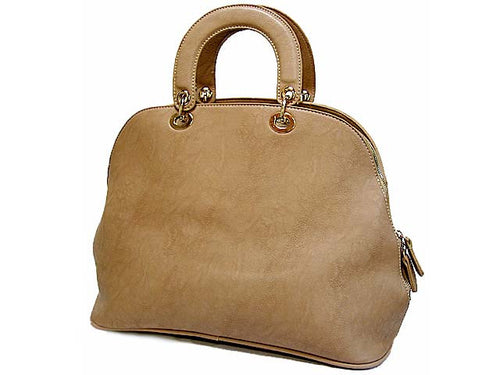 A-SHU DESIGNER STYLE BEIGE MULTI-COMPARTMENT HOLDALL HANDBAG WITH LONG STRAP - A-SHU.CO.UK