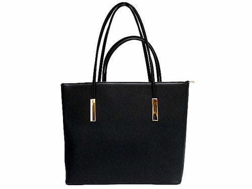 A-SHU DESIGNER STYLE BLACK 2 PIECE BAG IN BAG HANDBAG SET - A-SHU.CO.UK
