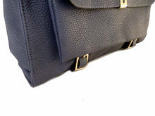 A-SHU DESIGNER STYLE BLUE MULTI-COMPARTMENT HANDBAG WITH FRONT FLAP AND LONG STRAP - A-SHU.CO.UK