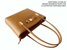DESIGNER STYLE BROWN BOW DESIGN 2 PIECE BAG IN BAG HANDBAG SET