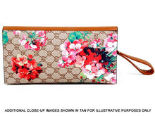 A-SHU DESIGNER STYLE FLORAL PRINT CLASP CROSS-BODY CLUTCH BAG WITH WRIST STRAP - BLACK - A-SHU.CO.UK